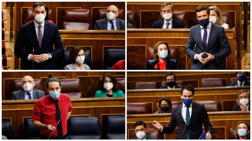 Pedro Sánchez, Pablo Casado, Pablo Iglesias y Teodoro García. CONGRESO DIPUTADOS