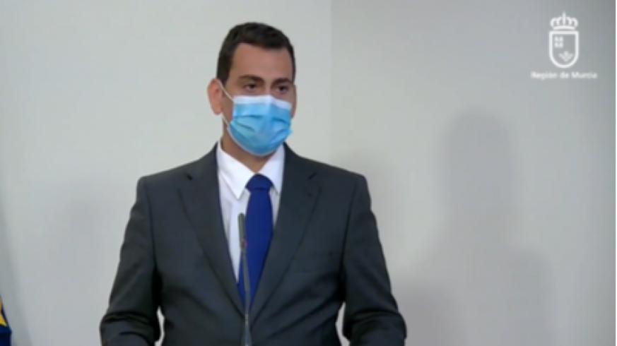 José Ramón Díez de Revenga en la rueda de prensa del Consejo de Gobierno