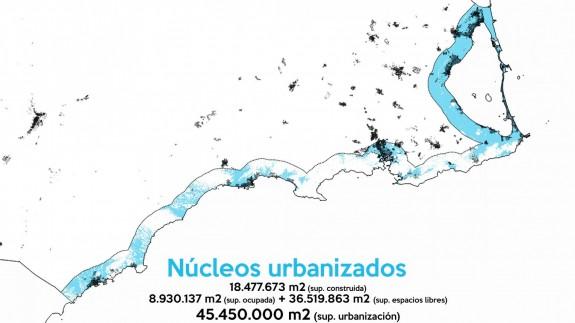 Mapa con las zonas de playa