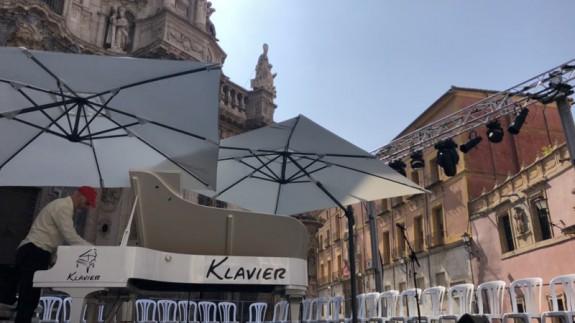 Piano en la plaza Belluga. @AytoMurcia