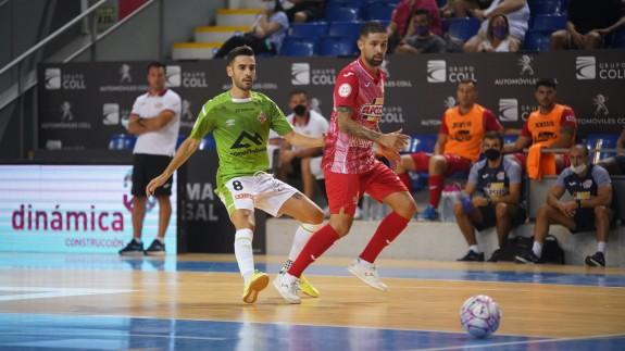Felipe Valerio, en un lance del partido