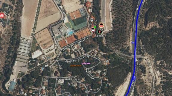 Mapa con el lugar del suceso