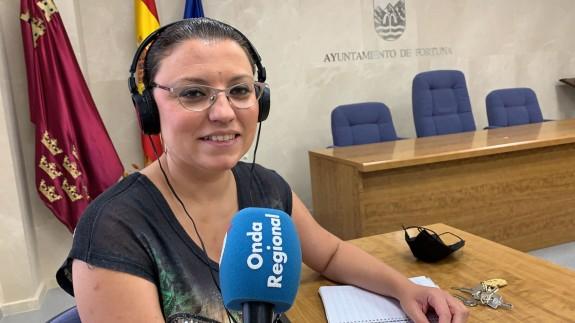 Catalina Herrero en el Ayuntamiento de Fortuna. CLAUDIO CABALLERO