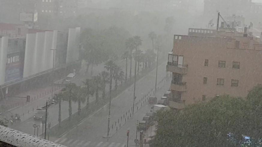 Tormenta este jueves en Murcia
