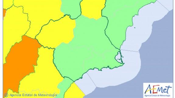 La AEMET amplía el aviso amarillo por nevadas al Altiplano