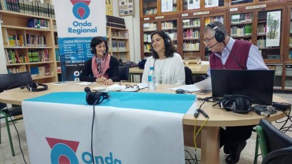 Carmen Verdú con Marta Ferrero y Miguel Massotti