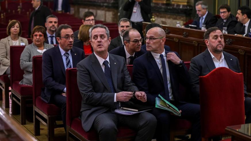 Los líderes independentistas durante el juicio