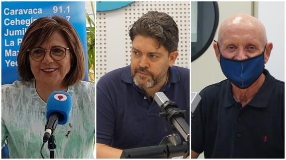 Rosa Peñalver, Miguel Sánchez y Domingo Coronado