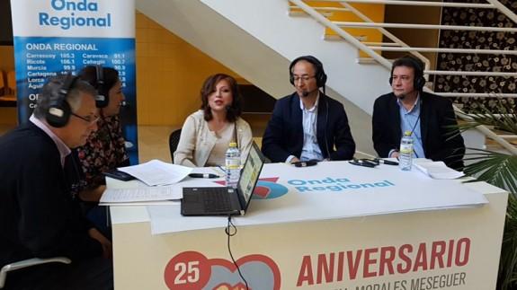 Carmen Martínez, Francisco Piqueras y Carlos Escobar en el Morales Meseguer