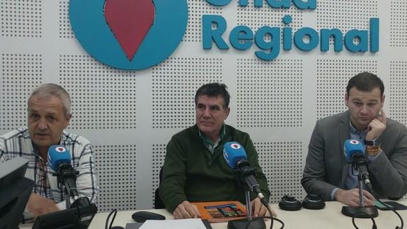 Antonio Hernández, Fernando Ureña y Marco Antonio Fernández en Onda Regional