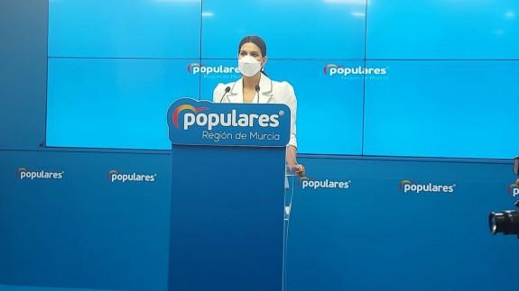Miriam Guardiola, portavoz del Partido Popular en la Región de Murcia.