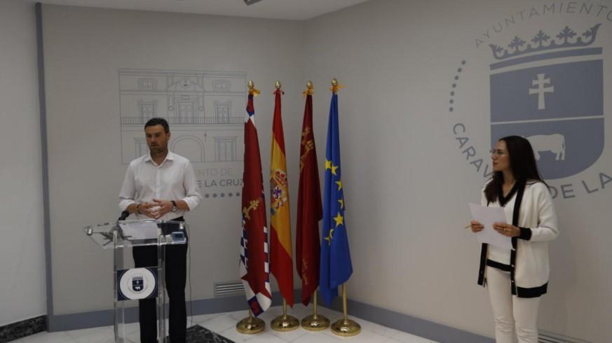 José Francisco García, Alcalde de Caravaca, y Ana Belén Martínez, concejala de Comercio