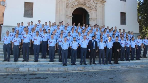 López Miras y los alumnos de la AGA