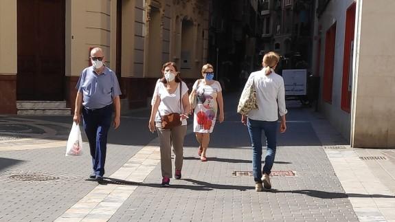 Ciudadanos por la calle en Murcia