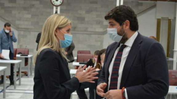 Ana Martínez Vidal y Fernando López Miras. Foto: Asamblea Regional