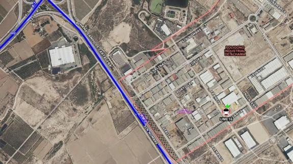 Mapa con el lugar del accidente