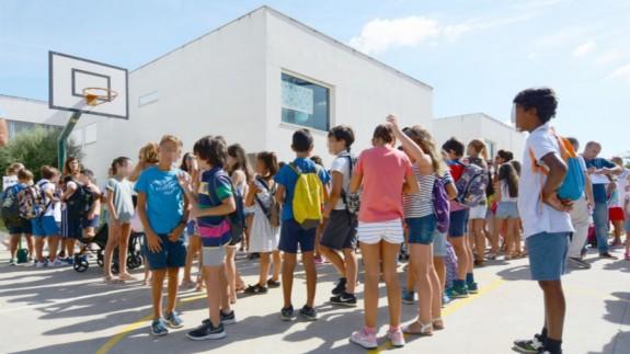 Escolares en la vuelta al curso escolar. ARCHIVO EP