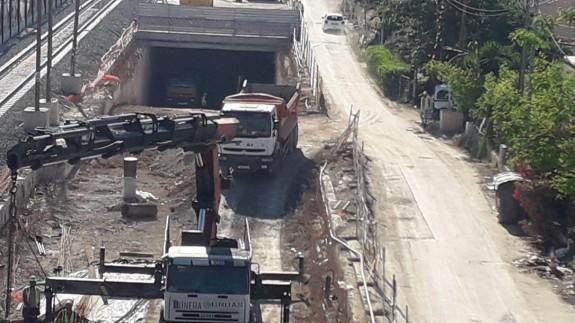 Obras del túnel del soterramiento
