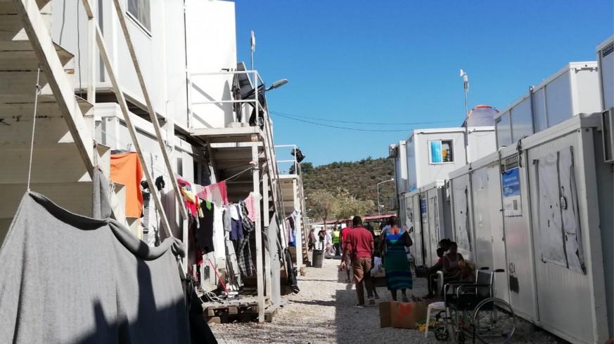 Campamento en Lesbos. Foto cedida por Amigos de Ritsona