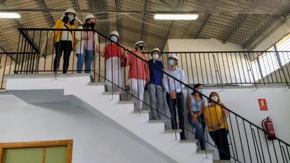 Inicio de la retirada del fibrocemento en el colegio José María Lapuerta. ORM