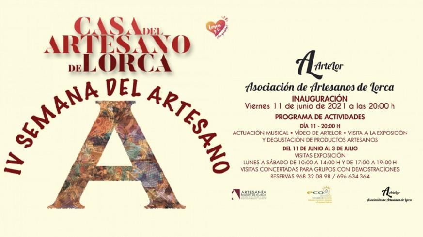 Cartel de la IV Semana del Artesano de Lorca