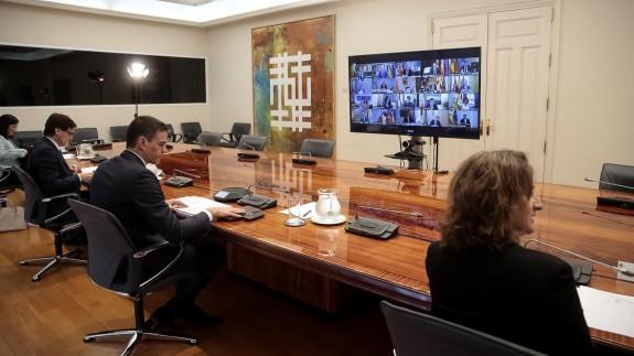 Videoconferencia entre Sánchez y los presidentes autonómicos