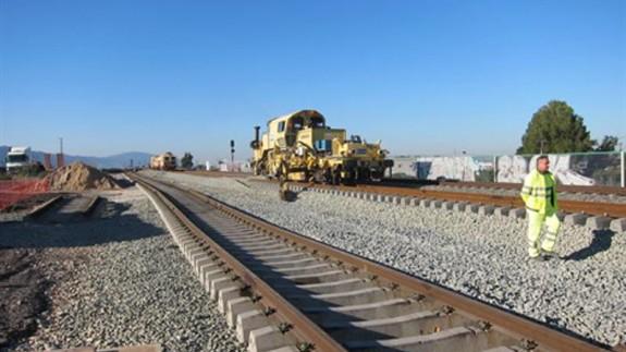 Obras soterramiento vias del tren