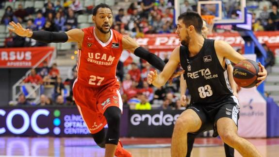 El UCAM vuelve a fallar y pierde (56-57) ante Bilbao