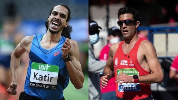 Mohamed Katir y Miguel Ángel López (Fotos: RFEA)