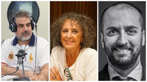 Laureano Buendía, profesor e historiador, Lola López Mondéjar, escritora, y Juan Pablo Soler, director del Teatro Circo y del Teatro Romea