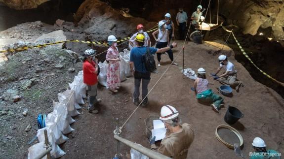 Yacimiento de Cueva Victoria. Foto: Ayuntamiento de Cartagena