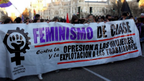 Pancarta feminismo de clase