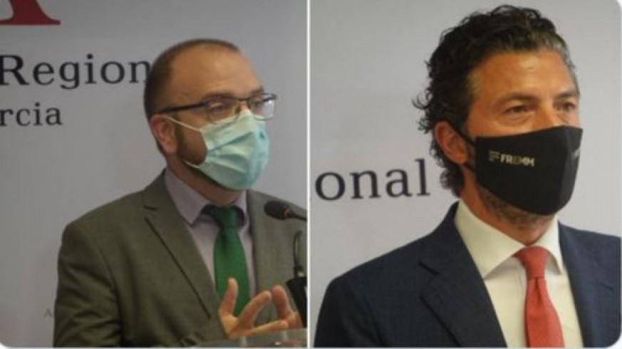 Luengo y Hernández tras su participación en la Comisión de Reactivación. ASAMBLEA REGIONAL