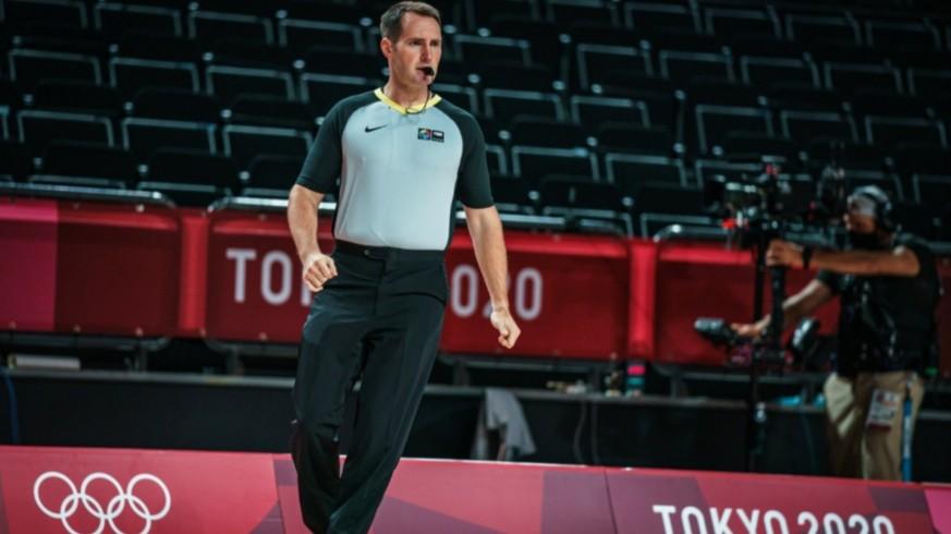 Luismi Castillo, en los Juegos Olímpicos de Tokio. Foto: FIBA