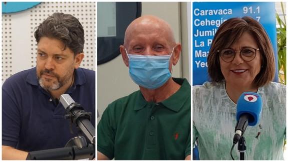 Miguel Sánchez, Domingo Coronado y Rosa Peñalver