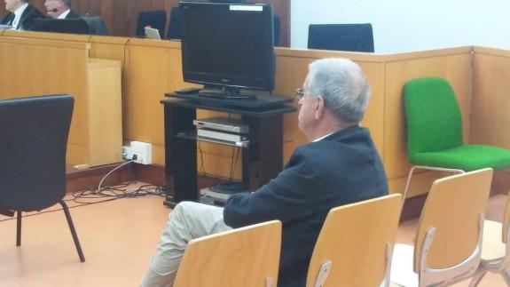 José Hernández, durante el juicio