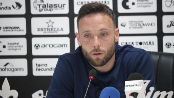 José Ángel Jurado, jugador del FC Cartagena