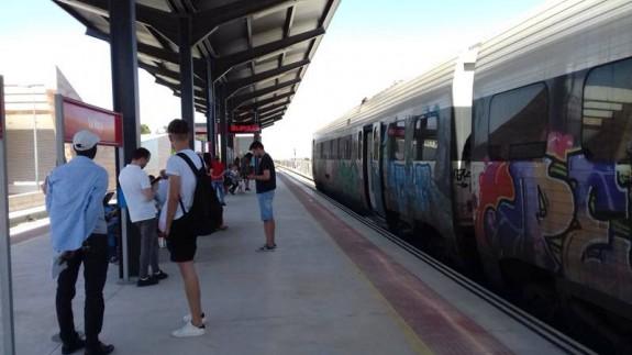 Tren de cercanías averiado en Lorca este pasado verano