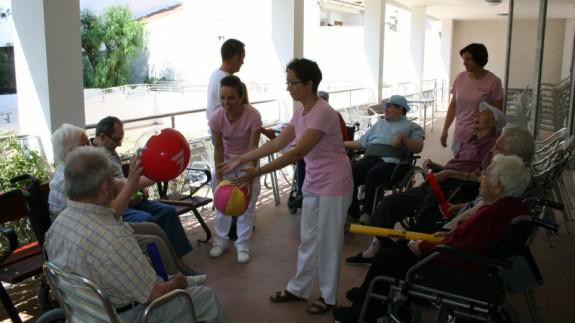 Actividades en una residencia para personas con discapacidad