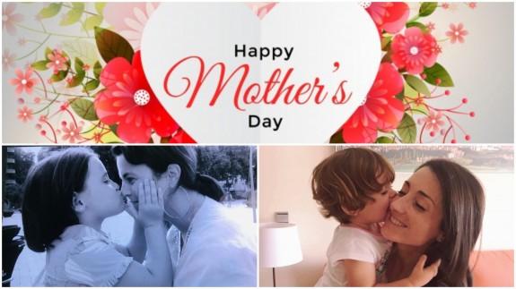 Cristina y Elvira con sus peques en el Día de la Madre