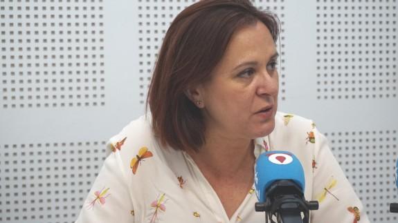 Isabel Franco, durante la entrevista en Onda Regional