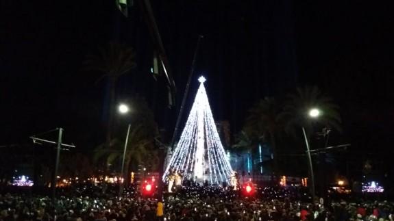 Encendido del árbol de Navidad en Murcia