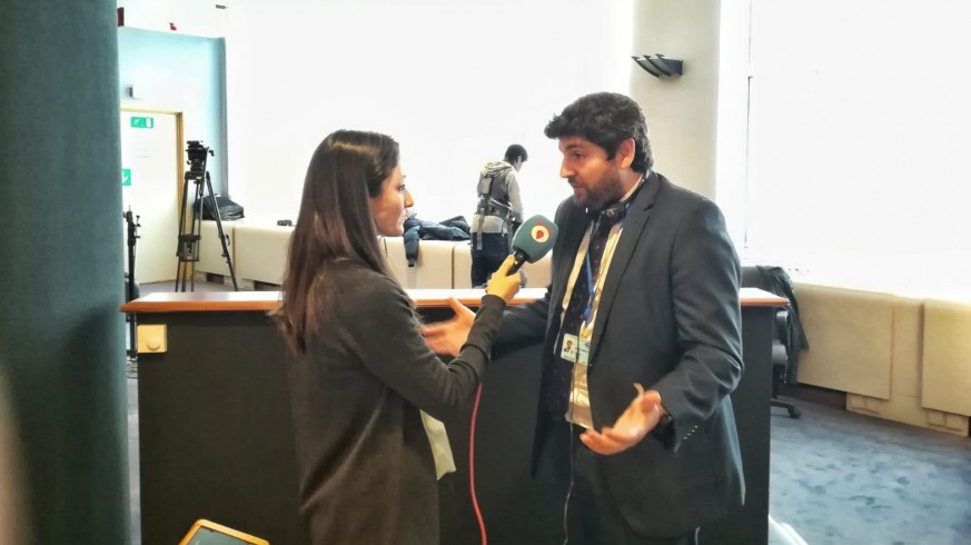 López Miras entrevistado por nuestra compañera Elvira Sánchez