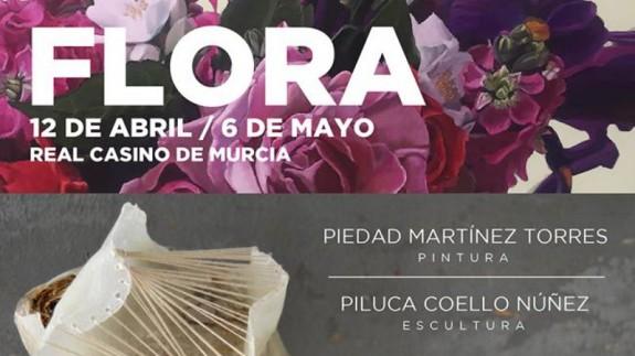 Cartel anunciador de la exposición FLORA en el Casino de Murcia