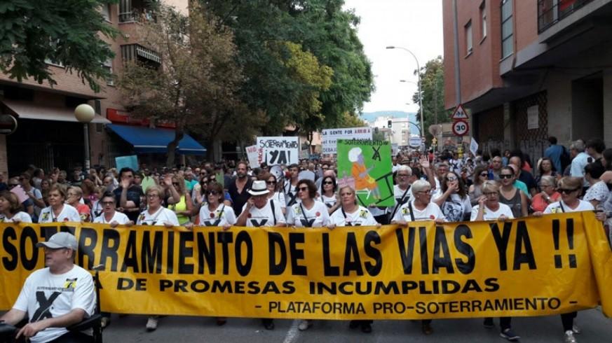 La plataforma ProSoterramiento aplaza la manifestación prevista para este sábado en Murcia