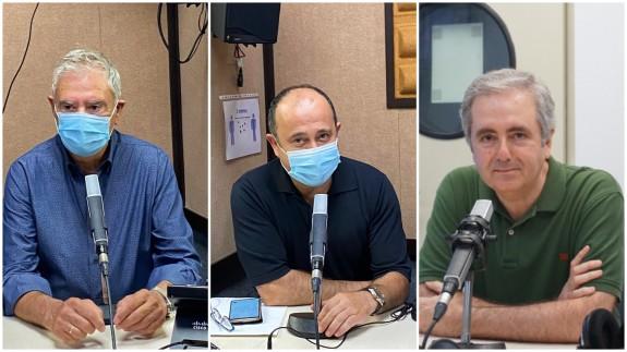 Enrique Nieto, Javier Adán y Manolo Segura, periodistas.