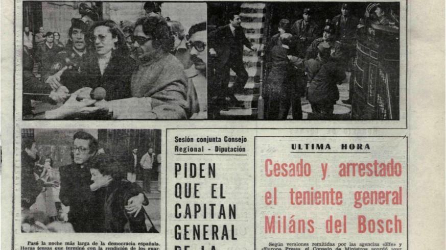 Portada del diario Línea dos días después del intento de golpe