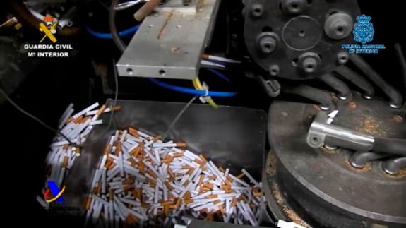 Imagen de la fábrica de cigarrillos