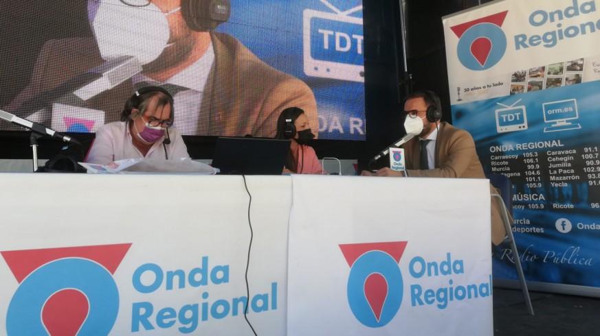 El alcalde de Lorca, entrevistado por Onda Regional
