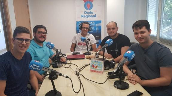 Fran Solano, Joaquín Cruces, José Antonio Toral, Víctor Martínez y Mariano Fernández